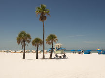 White sandy beach in clearwater fl. Stock Image