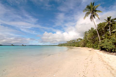 white sandy beach, Isle of pines Royalty Free Stock Images