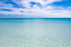 White sandy beach La Cinta, Sardinia, Italy Royalty Free Stock Image