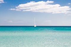 White sandy beach La Cinta, Sardinia, Italy Royalty Free Stock Photography