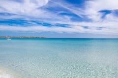 White sandy beach La Cinta, Sardinia, Italy Stock Image