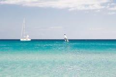 White sandy beach La Cinta, Sardinia, Italy Royalty Free Stock Photo