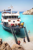 White Sandy Beach Lefkada Island royalty free stock images