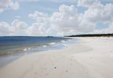 White sandy beach nova scotia Royalty Free Stock Images