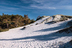White sandy beach on the south coast of Bornholm Stock Photos