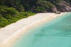 White sandy tropical beach Stock Photo