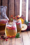 White sangria with apple cider Royalty Free Stock Image