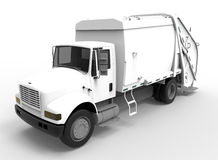 White sanitary truck concept Royalty Free Stock Image