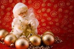 White santa card Stock Image