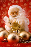 White santa over red Royalty Free Stock Photography