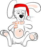 White santa rabbit Royalty Free Stock Photos