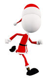 White Santa is running. 3d White Santa is running Stock Images