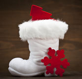 White Santa's boot Stock Image