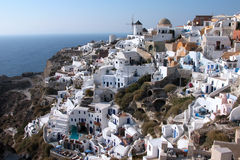White Santorini houses Royalty Free Stock Photos