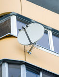 White sat TV dish Royalty Free Stock Images