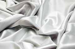 White satin background Royalty Free Stock Photo