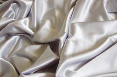 White satin background Stock Photography