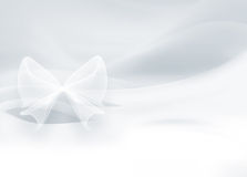 White satin with a bow Royalty Free Stock Photography