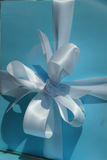 White satin bow Stock Image