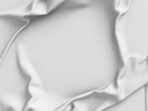 White satin cloth background with folds Stock Photography