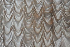 White satin curtain Royalty Free Stock Images