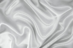 White satin fabric Royalty Free Stock Images