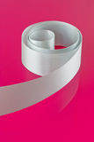 White satin ribbon Stock Photos