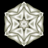 White satin snowflake star Royalty Free Stock Image