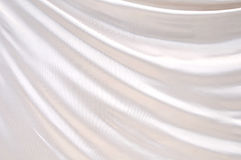 White satin textile Stock Photography