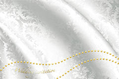 White satin for wedding Royalty Free Stock Photography