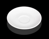 White saucer with reflection Royalty Free Stock Photo