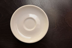 A white saucer Stock Image