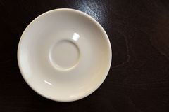 A white saucer Royalty Free Stock Photo