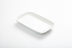 White saucer  on white Stock Image