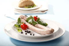 White sausage Stock Photography