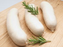 White sausage. French gastronomic specialty presented studio Royalty Free Stock Photography