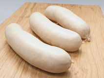 White sausage. French gastronomic specialty presented studio Royalty Free Stock Photo