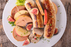 White sausage isolated Royalty Free Stock Image