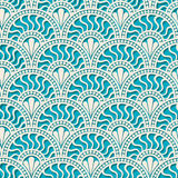 White scales lace. Seamless pattern Royalty Free Stock Photo