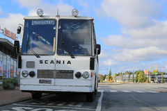 White Scania Lahti 20 Bus from the 1970s Royalty Free Stock Image
