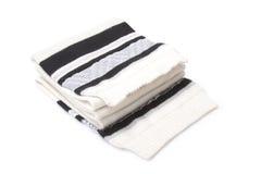 White scarf. On white background Stock Photos