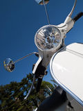 White scooter Royalty Free Stock Photography