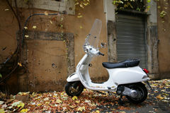 White scooter Royalty Free Stock Image