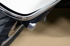 Scooter front mudguard and wheel royalty free stock photo