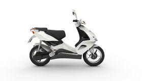 White Scooter Royalty Free Stock Photo