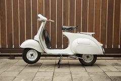White Scooter. Vespa scooter in white colour Stock Images