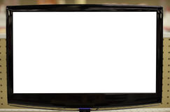 White Screen flat panel tv Royalty Free Stock Images