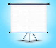 White screen projector horizontal on a stand Stock Photo