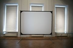 White screen in room Stock Image
