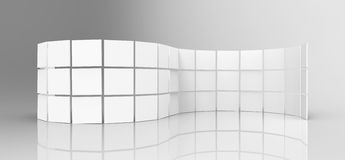 White Screens. On white background Stock Images